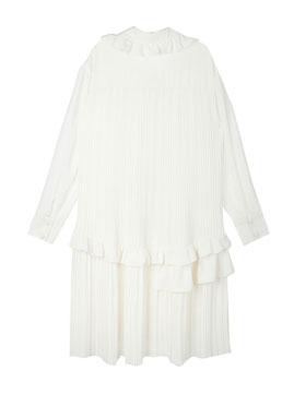Ruffle Pleated A-Line Dress