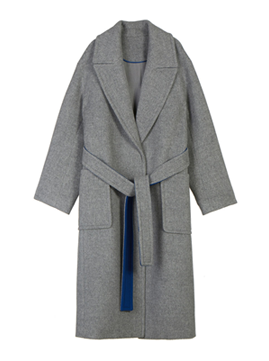 Button Detail Long Coat