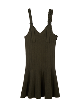Shirring Sleeveless Knit Dress